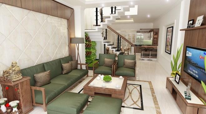 Sofa gỗ làm tăng sự đẳng cấp của phòng khách