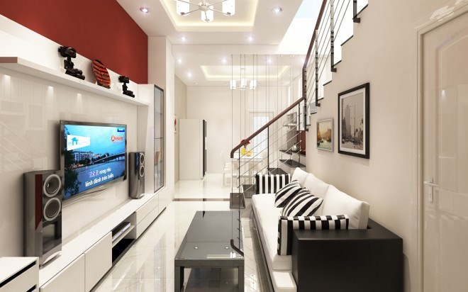 Kệ kê sát tường là giải pháp hoàn hảo cho không gian nhà hẹp