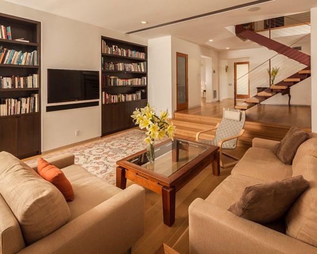Đồ gỗ thiết kế âm tường là lựa chọn giúp bạn tiết kiệm diện tích cho căn phòng.
