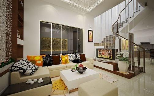 Phòng khách sang trọng với bộ sofa lịch lãm và hiện đại