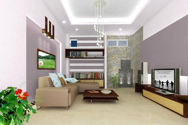 Phong cách Hàn Quốc trong thiết kế nội thất phòng khách nhà ống