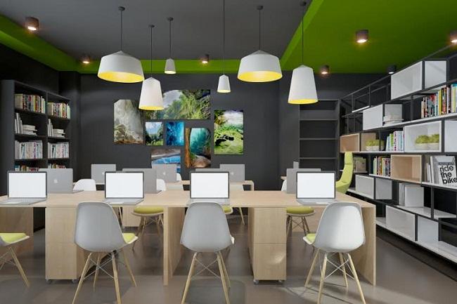 chọn màu sơn tường đẹp cho phòng làm việc