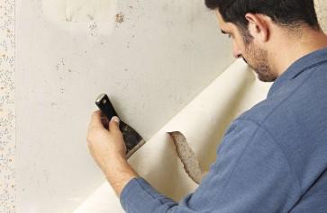 Cách sơn lại tường đã dán giấy