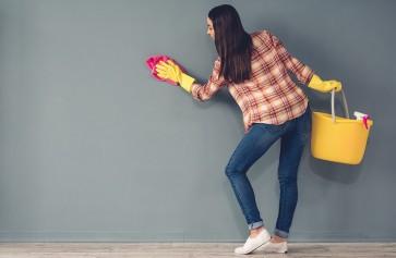 Cách làm sạch tường nhà đón tết đơn giản