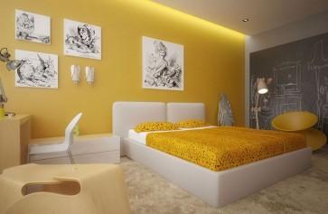 Cách sơn nội thất màu vàng kem lôi cuốn nhất